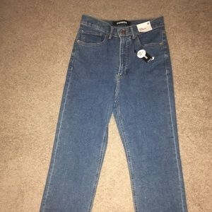 Straight Fit Supper High Rise EXPRESS Jeans